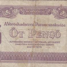 UNGARIA 5 pengo 1944 VF-!!! - bancnota europa