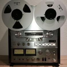 Magnetofon SONY TC-765, 4 piste, closed loop dual capstan, 3 c./3m., stare f.buna