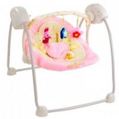Leagan electric CANGAROO Baby Swing Roz - Balansoar interior