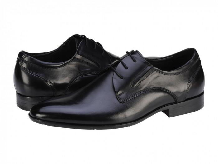 Pantofi eleganti piele barbati Eldemas John negru 22803025BLACK foto mare