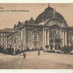 Cp CERNAUTI : TEATRUL - 1918 - Carte Postala Bucovina 1904-1918, Necirculata, Fotografie