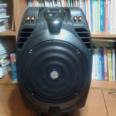 Boxa activa Akai, 50W, conexiune chitara ellectrica, microfon, telecomanda