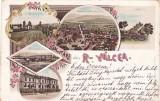 SALUTARI DIN RAMNICU-VALCEA,LITHO, CIRCULATA 1900,ROMANIA.