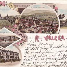 SALUTARI DIN RAMNICU-VALCEA,LITHO, CIRCULATA 1900,ROMANIA., Fotografie, Ramnicu Valcea