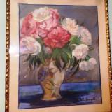 Tablou Thormane Kiss Margit(1901 – 1977) - Pictor roman, Flori, Pastel, Realism