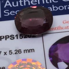 Safir 8.40ct violet natural Sri Lanka cu certificat