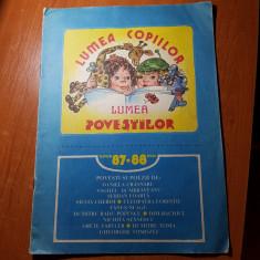 Revista lumea copiilor iunie 1987-mai 1988 - Reviste benzi desenate