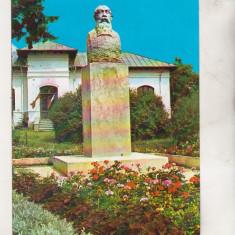 Bnk cp Valenii de Munte - Bustul lui N Iorga - circulata - Carte Postala Muntenia dupa 1918, Printata
