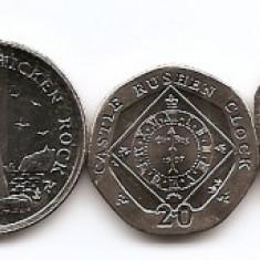 Insula Man Set 8 - 1, 2, 5, 10, 20, 50 Pence, 1, 2 Pound 2011 - UNC !!!, Europa