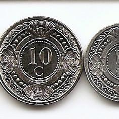 Antilele Olandeze Set 4 - 1, 5, 10, 25 Cents (1990/05) UNC !!!, America Centrala si de Sud