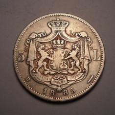 5 lei 1885 Rara - Moneda Romania