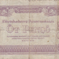UNGARIA 5 pengo 1944 F+!!! - bancnota europa