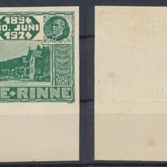 ROMANIA 1924 ultima emisiune Paltinis HOHE RINNE timbru 50 B. NEdantelat negumat - Timbre Romania, Nestampilat