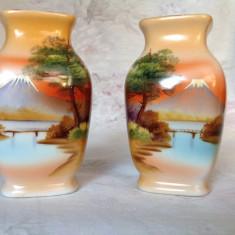 Pereche vaze decorative din portelan japonez Noritake, 1930