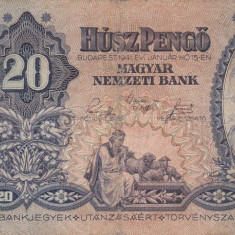 UNGARIA 20 pengo 1941 VF!!! - bancnota europa