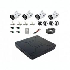Kit sistem complet 4 camere supraveghere exterior ccd Sony 4 in 1 full hd 40 m IR lentila varifocala+hard 1TB