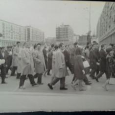 Fotografie RPR defilare Iasi,  Piata Unirii