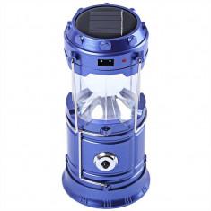 Felinar Camping LED Reincarcabil cu Lanterna - Panou Solar si USB C157
