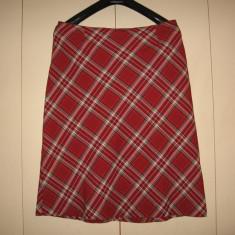 Fusta stofa tartan DeVille Mar 44, Culoare: Multicolor, Midi, Dreapta