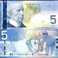 CANADA- 5 DOLLARS 2006/2010- UNC!! - bancnota america