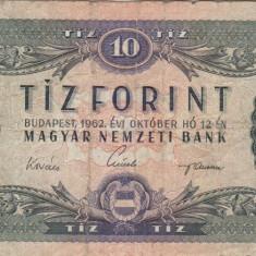 UNGARIA 10 forint 1962 VF-!!! - bancnota europa