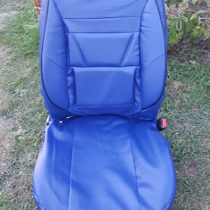 Huse auto albastre din imitatie piele - Husa scaun auto