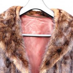 Haină blană naturală de Nurcă - haina de blana