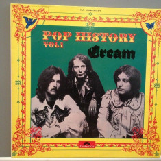 CREAM - POP HISTORY (BEST OF)- 2LP Set(1970/POLYDOR/RFG) - Vinil/Impecabil (NM+) - Muzica Rock
