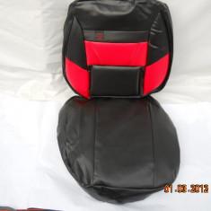 huse auto negru cu rosu din imitatie piele