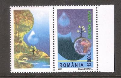Europa 2001, cu vinieta in stanga, nr. lista 1550a foto