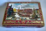 Cutie mare veche de tabla, W. Germany, E. Otto Schmidt Lebkuchen und Honig