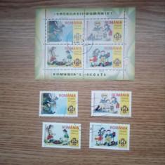 ROMANIA(C011) - L.P. 1686b - CERCETASII ROMANIEI - serie + bloc stampilat