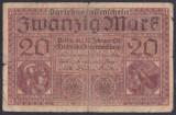 Bancnota Germania 20 Marci 1918 - P57 Fine