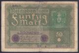 Bancnota Germania 50 Marci 1919 - P66 Fine