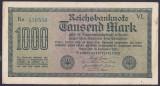Bancnota Germania 1.000 Marci 1922 - P76e VF+ (filigran orizontal - serie verde)
