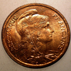 A.026 FRANTA 2 CENTIMES 1911 AUNC, Europa, Bronz