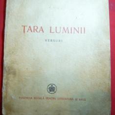 Magda Isanos - Tara Luminii - Versuri - Prima Ed. 1946 Ed. Regala pt.Literatura