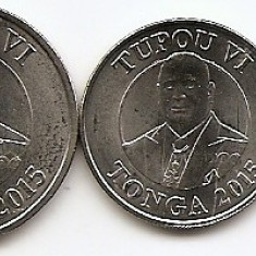 Tonga Set 5 - 5, 10, 20, 50 Senti, 1 Pa'anga 2015 - UNC !!!, Africa