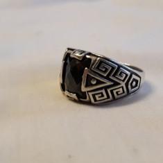 Inel argint cu ONIX VERSACE ca model SPLENDID superb ELEGANT de efect SUPERB rar