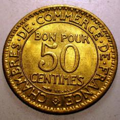 A.053 FRANTA 50 CENTIMES 1926 XF/AUNC, Europa, Bronz-Aluminiu