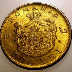 2.283 ROMANIA MIHAI I 500 LEI 1945 - Moneda Romania, Alama