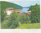 Bnk cp Valiug ( Jud Caras Severin ) - Vedere spre lac - circulata - marca fixa, Printata