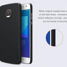 Husa Motorola Moto Z2 Play Super Frosted Shield by Nillkin Black - Husa Telefon Sony, Negru, Plastic, Fara snur, Carcasa