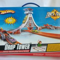 Set Hotwheels Drop Tower, TrickTracks pentru masinute (nu are incluse masinute) - Masinuta