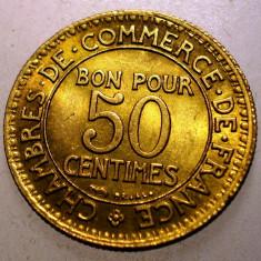 A.057 FRANTA 50 CENTIMES 1926 XF/AUNC, Europa, Bronz-Aluminiu