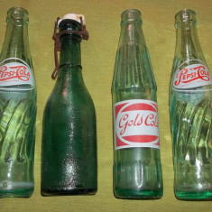 Sticle suc perioada interbelica si comunista Gold Cola, Pepsi - Sticla