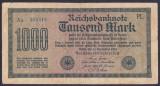 Bancnota Germania 1.000 Marci 1922 - P76e VF (filigran vertical - serie verde)