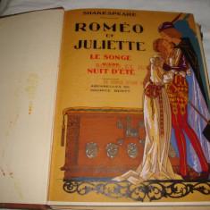 Shakespeare - Romeo et Juliette - cu heliogravuri - interbelica - in franceza - Carte de lux