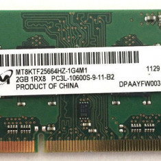 Memorii Laptop SODIMM Micron 2GB DDR3 PC3-10600S 1333Mhz - Memorie RAM laptop
