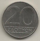 POLONIA  20  ZLOTI   ZLOTYCH  1990   [1]    livrare in cartonas, Europa, Cupru-Nichel
